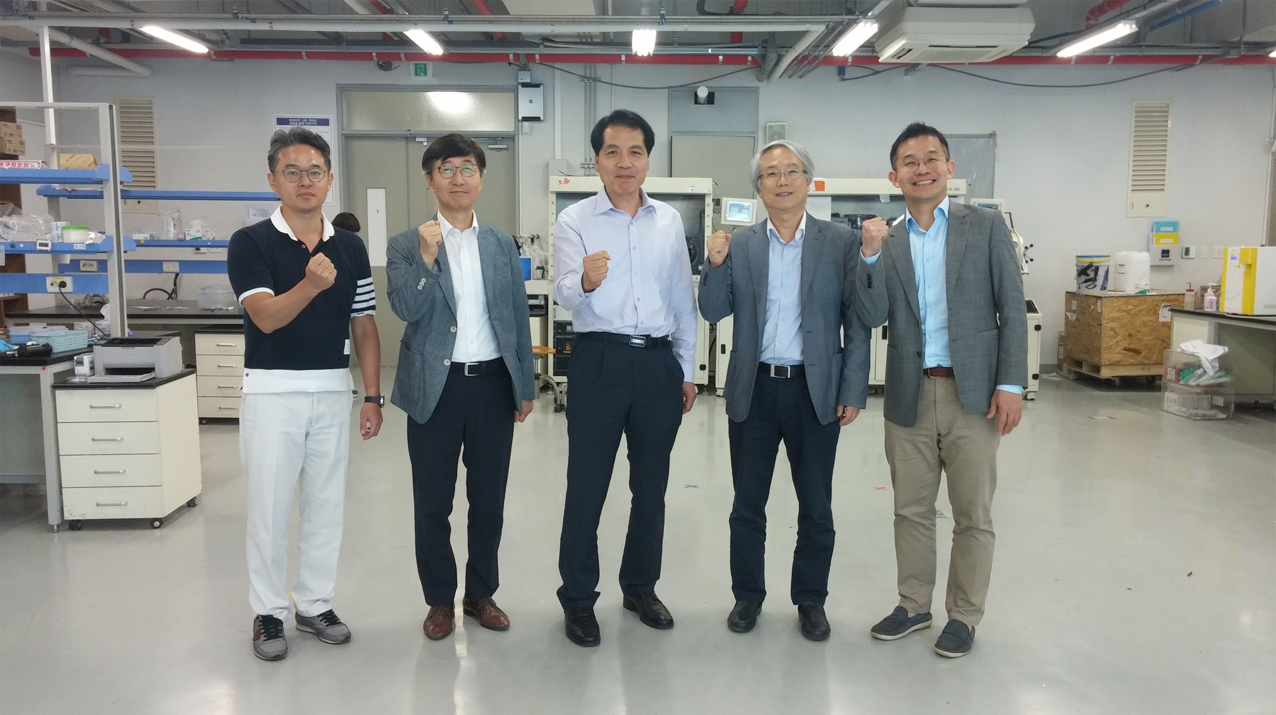 Image: Senior managers of Frontier Energy Solution: Hyun Suk Jung , Nam-Gyu Park,  Sang-Il Seok,  Mansoo Choi, and Ki Tae Nam