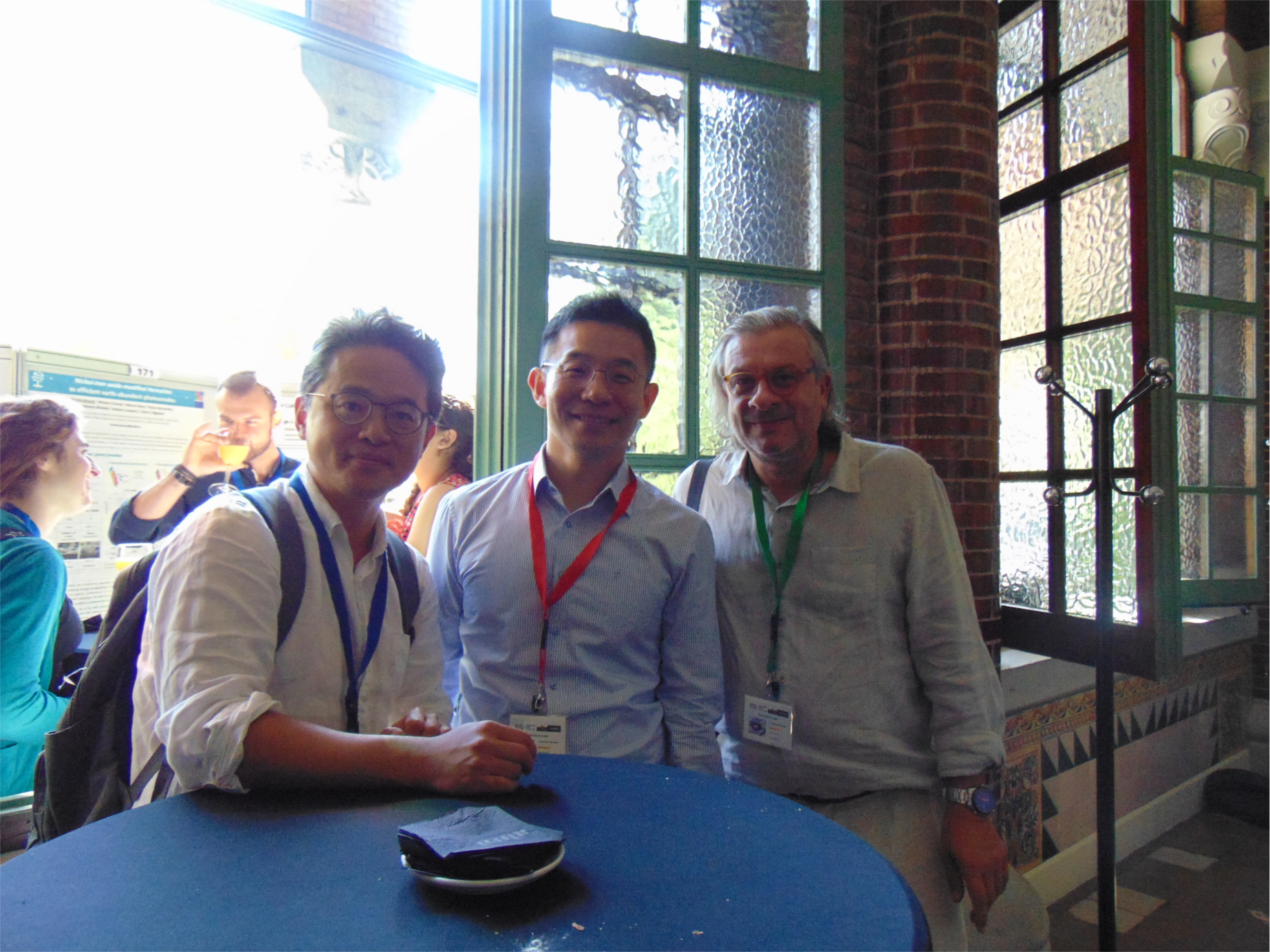 Hyun Suk Jung, Ki Tae Nam and Juan Bisquert at nanoGe Fall Meeting 2017 in Barcelona